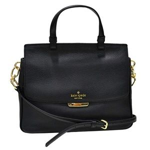 Kate Spade Rea Robinson Lane Black Gold Purse Bag